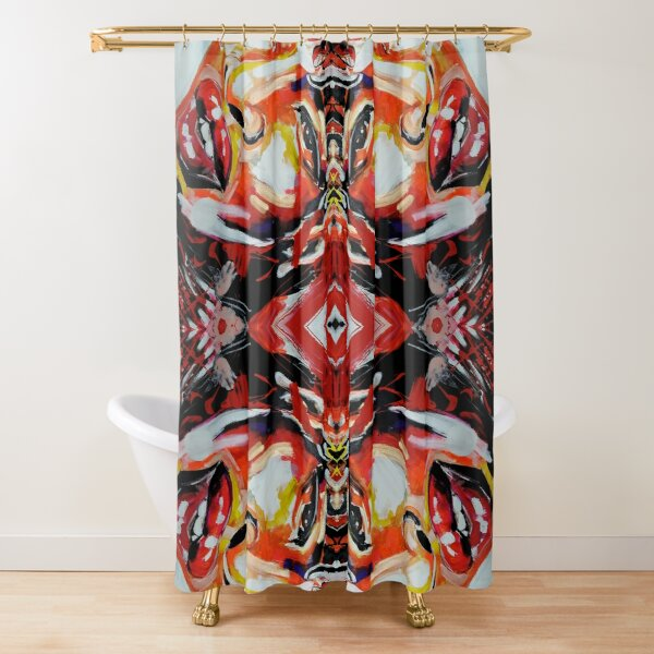 AFRICAN BEAUTY red pattern Shower Curtain