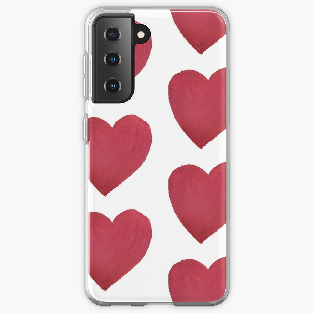 Hand Painted Red Valentine's Day Heart Case & Skin for Samsung Galaxy