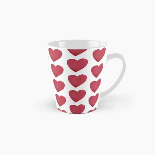 Hand Painted Red Valentine's Day Heart Tall Mug
