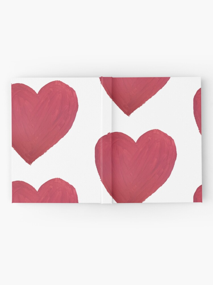 Alternate view of Hand Painted Red Valentine's Day Heart Hardcover Journal