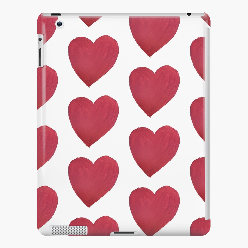 Hand Painted Red Valentine's Day Heart iPad Case & Skin