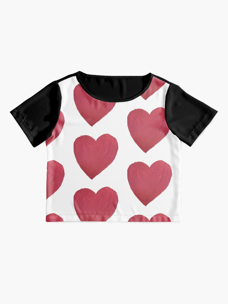 Alternate view of Hand Painted Red Valentine's Day Heart Chiffon Top