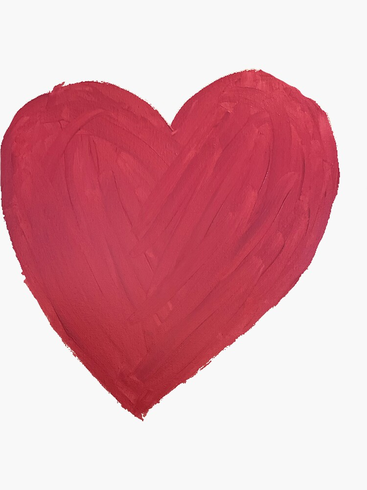 Hand Painted Red Valentine's Day Heart by Margaretmilrose