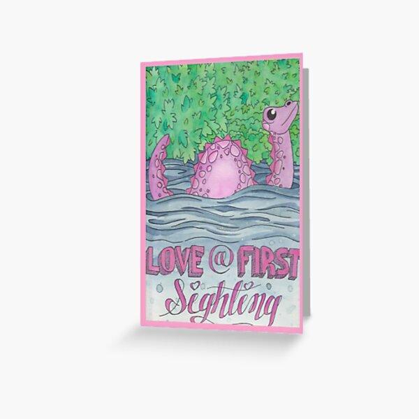 Nessie Valentine's Day Card Greeting Card