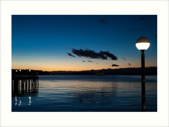 Twilight Harbor by Kelushan