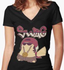 Swagachu Pikaswag Thugachu Women's Fitted V-Neck T-Shirt