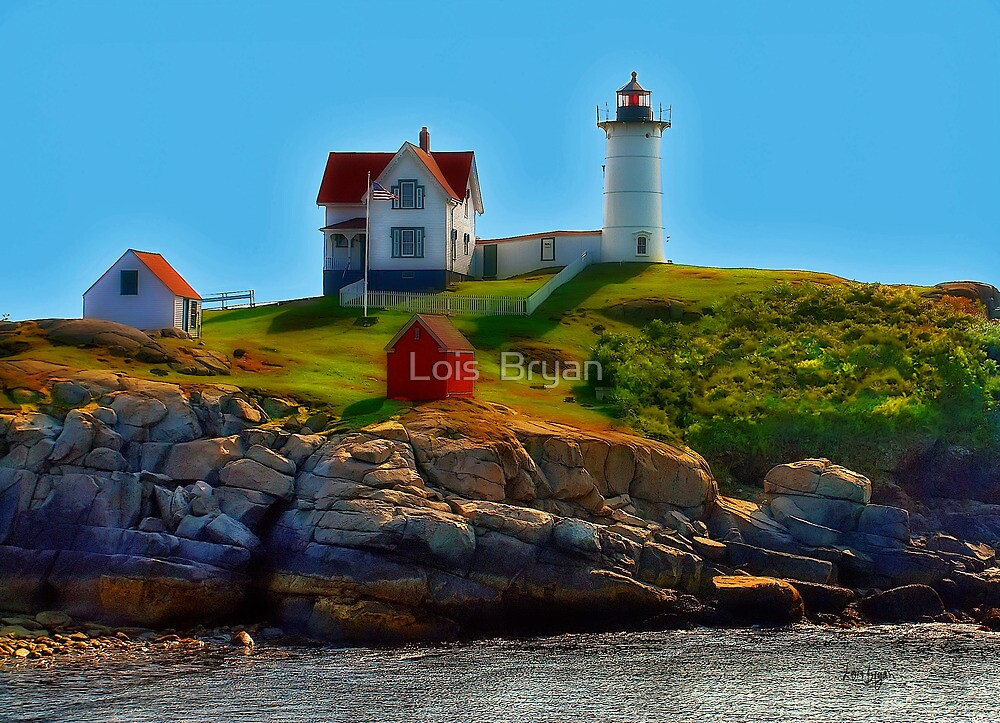 Nubble Lighthouse, Maine, USA by Lois  Bryan
