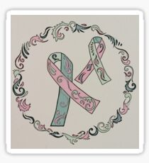 Metastatic Breast Cancer Ribbons Sticker