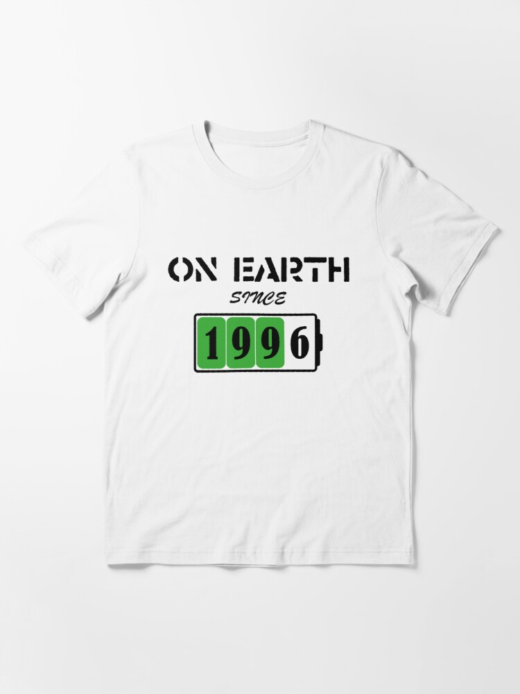 Alternate view of On Earth Since 1996 Essential T-Shirt