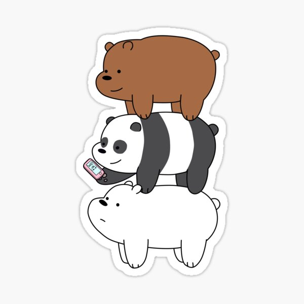 We Bare Bears™ Grizzly, Panda, and Ice bear Sticker