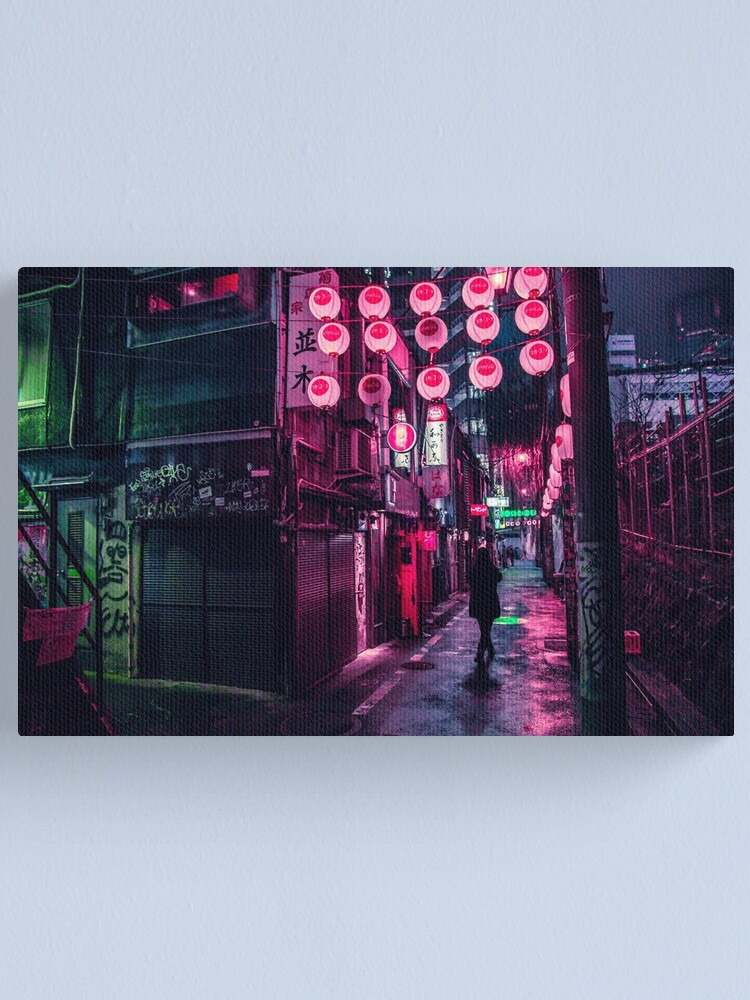 Alternate view of Shibuya Lanterns Canvas Print