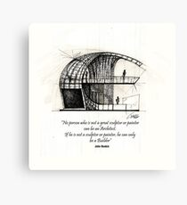 Booth Canvas Print
