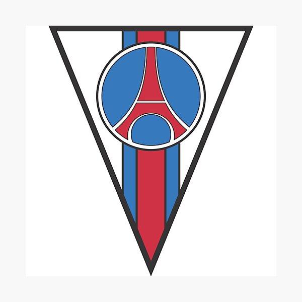 Lamina Fotografica Logotipo De Psg 1992 1996 De Ultraparis Redbubble