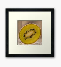 Kiwi Fruit With Bubbles Framed Print