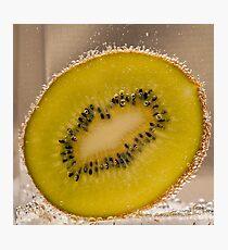 Kiwi Fruit With Bubbles Photographic Print