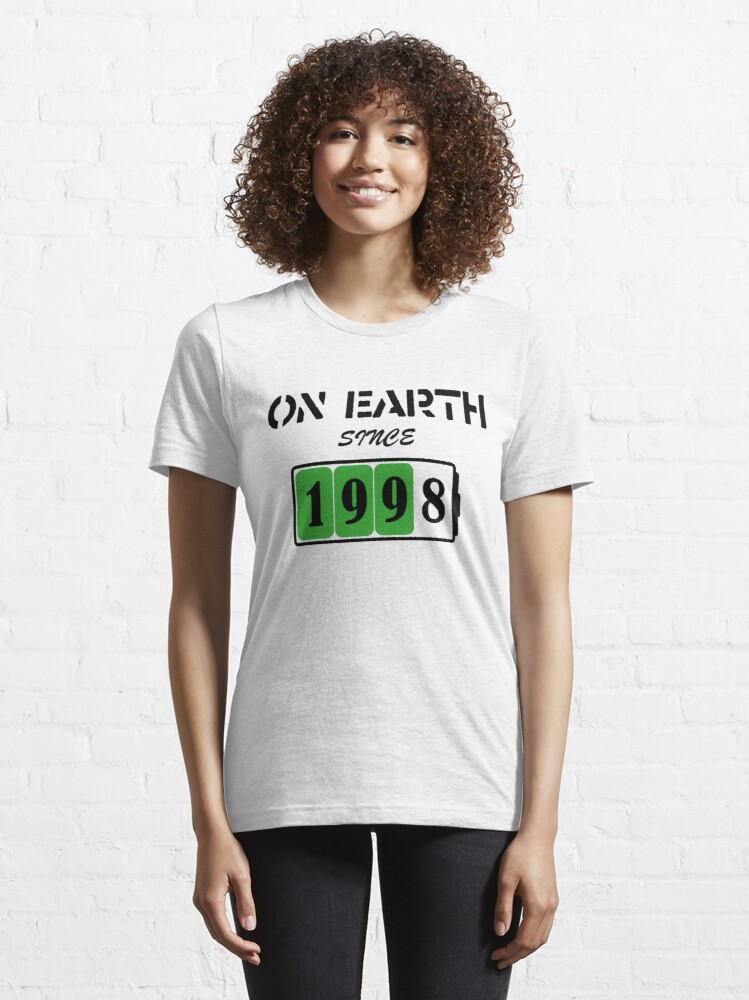 Alternate view of On Earth Since 1998 Essential T-Shirt