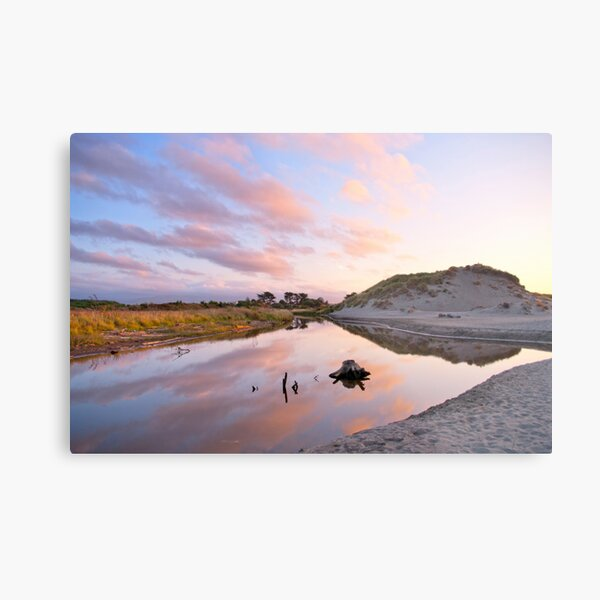 Clouds Over Silent water Metal Print
