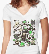 Capers, Schemes, Plans, & Scams Women's Fitted V-Neck T-Shirt