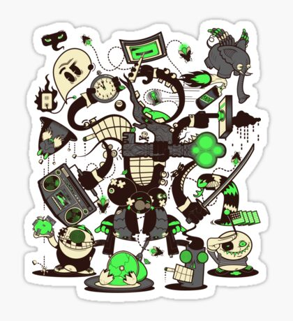 Capers, Schemes, Plans, & Scams Sticker