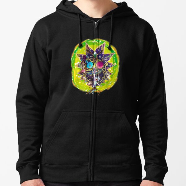 Rick and morty multiverse face by dinsdaleart Zipped Hoodie
