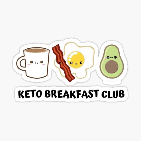 Keto Breakfast Club Cute Sticker