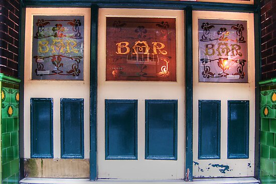 Bar Door (In Colour)  by Eve Parry