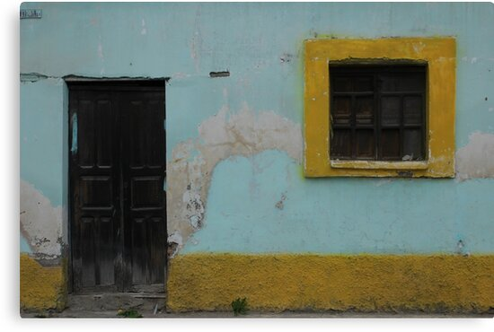 Door and Window With Yellow Trim by rhamm