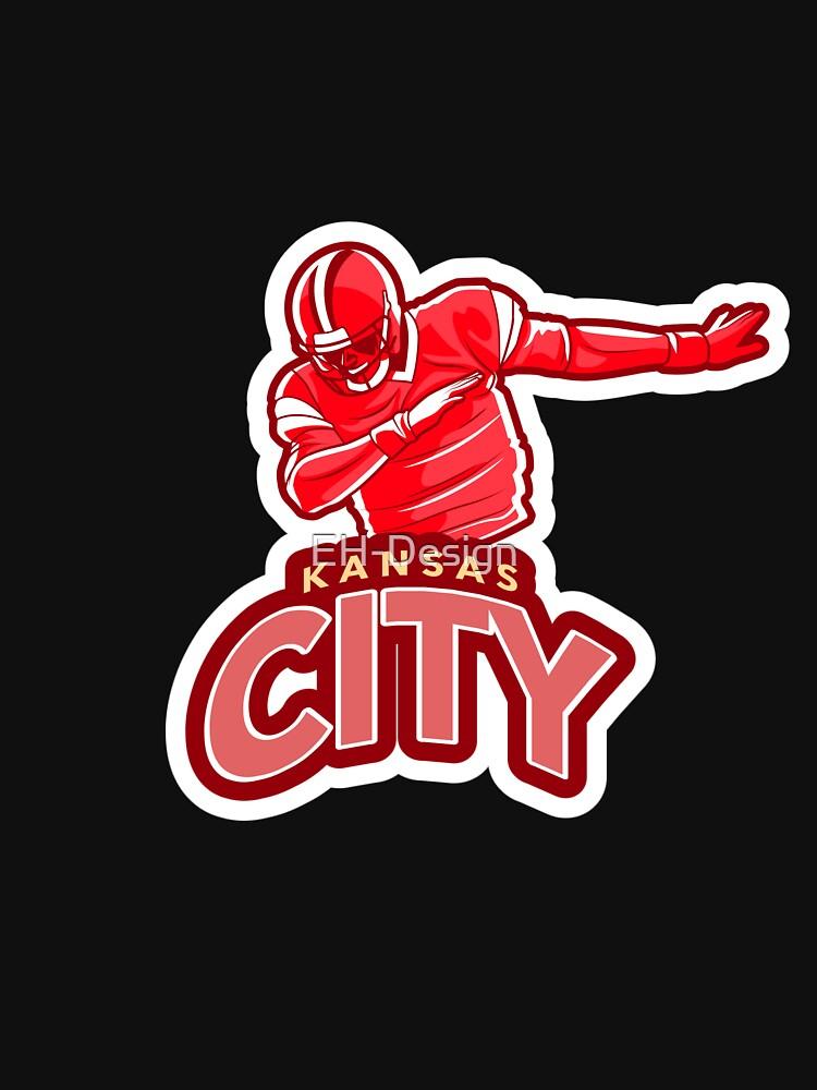 Dabbing Kansas City Football von EH-Design