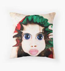 Happy Warped Christmas Elf  Throw Pillow