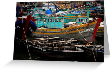 Vietnam fishing boats by Toni  Fuller