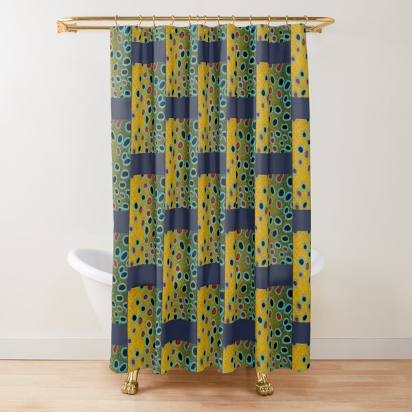 Brown Trout Skin Shower Curtain