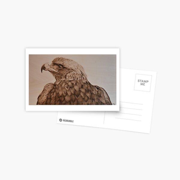 Golden Eagle Pyrography Art Postcard