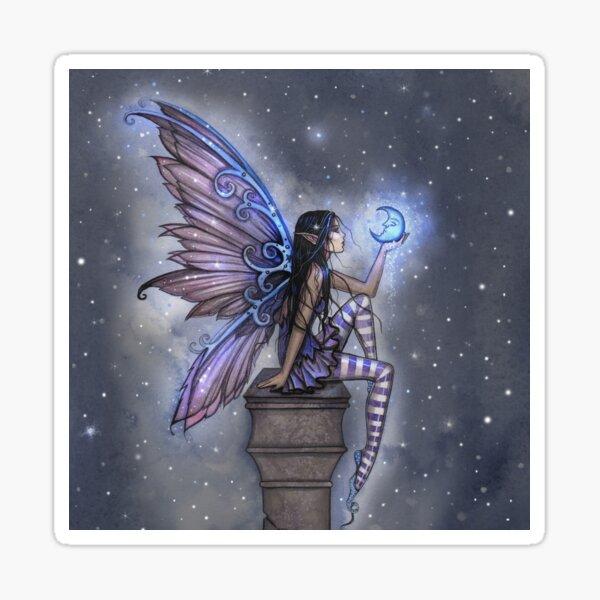 Little Blue Moon Fairy Fantasy Art by Molly Harrison Sticker