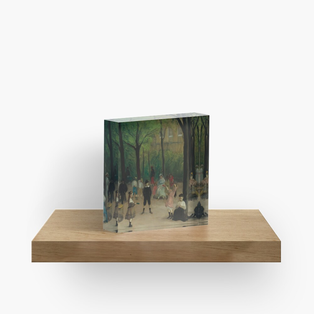 Luxembourg Gardens Oil Painting by William James Glackens Acrylic Block