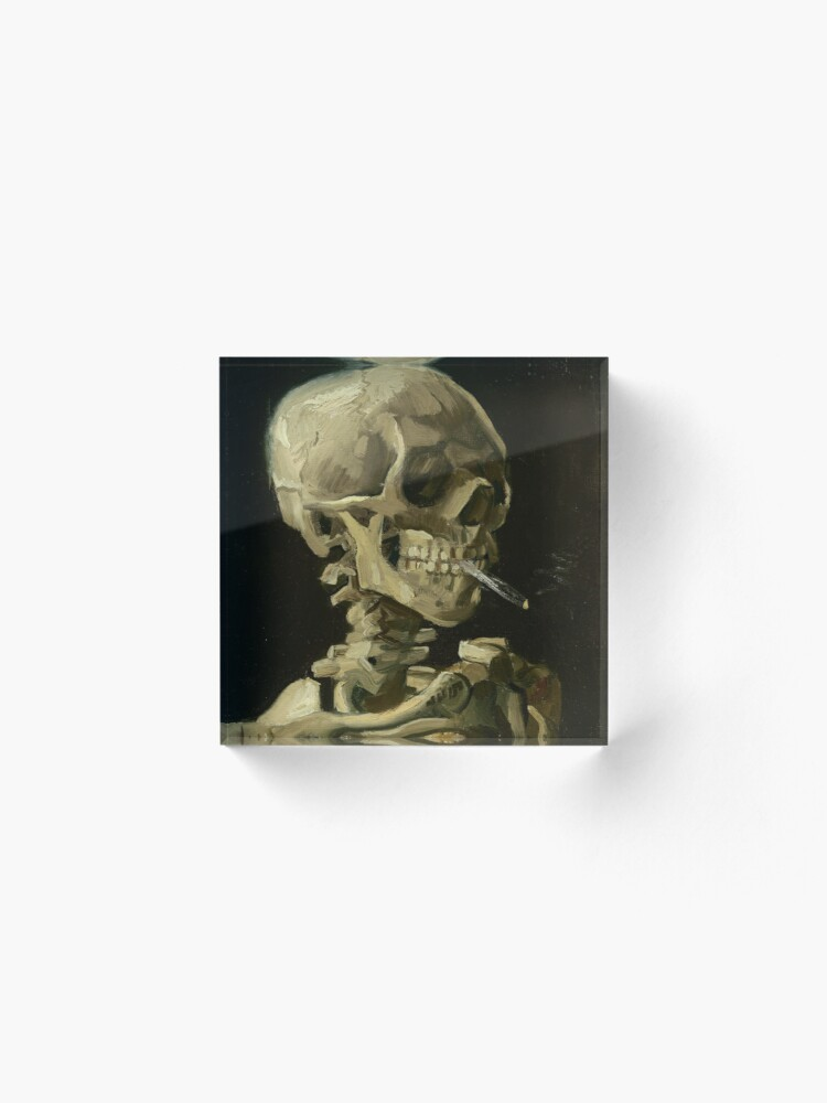 Alternate view of Skull of a Skeleton with Burning Cigarette by Vincent van Gogh Acrylic Block