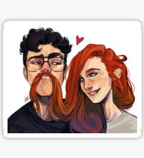 James and Lily Sticker