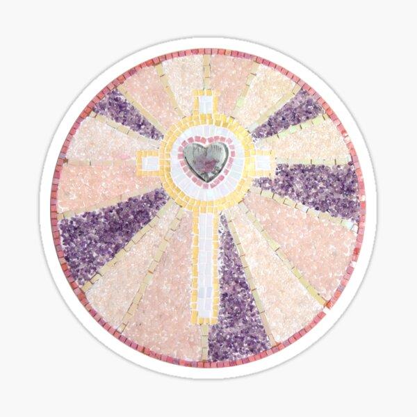 Rose cross Sticker