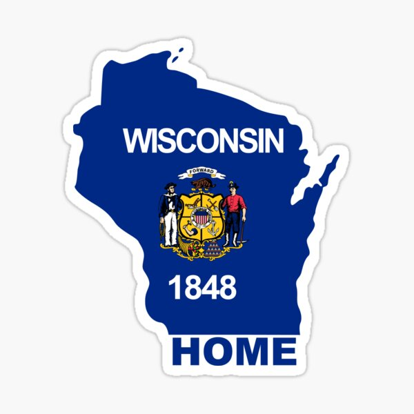 Wisconsin Home Flag Sticker