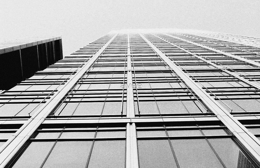 Looking up in London in B&W by avee