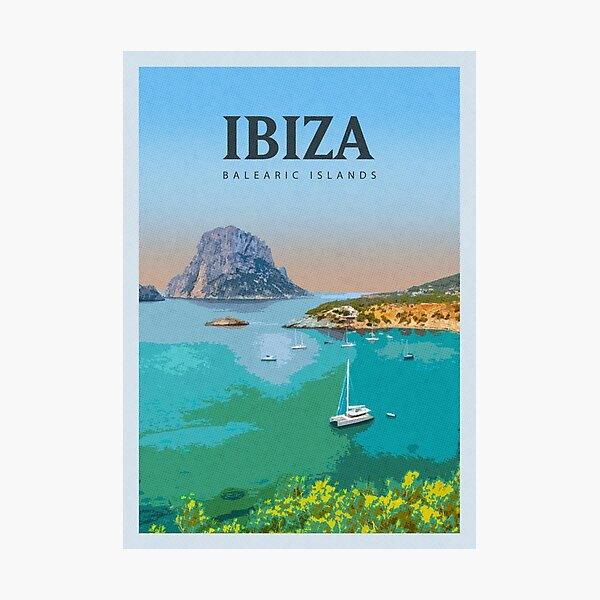 Visit Ibiza Photographic Print