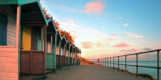 Cornish Beach Huts by Andrew Hocking
