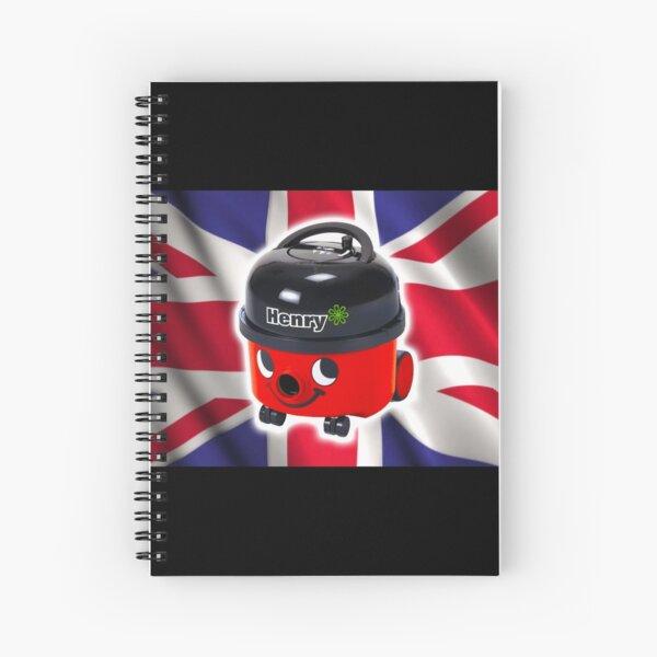 Henry Hoover with UK Flag Spiral Notebook