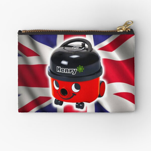 Henry Hoover with UK Flag Zipper Pouch