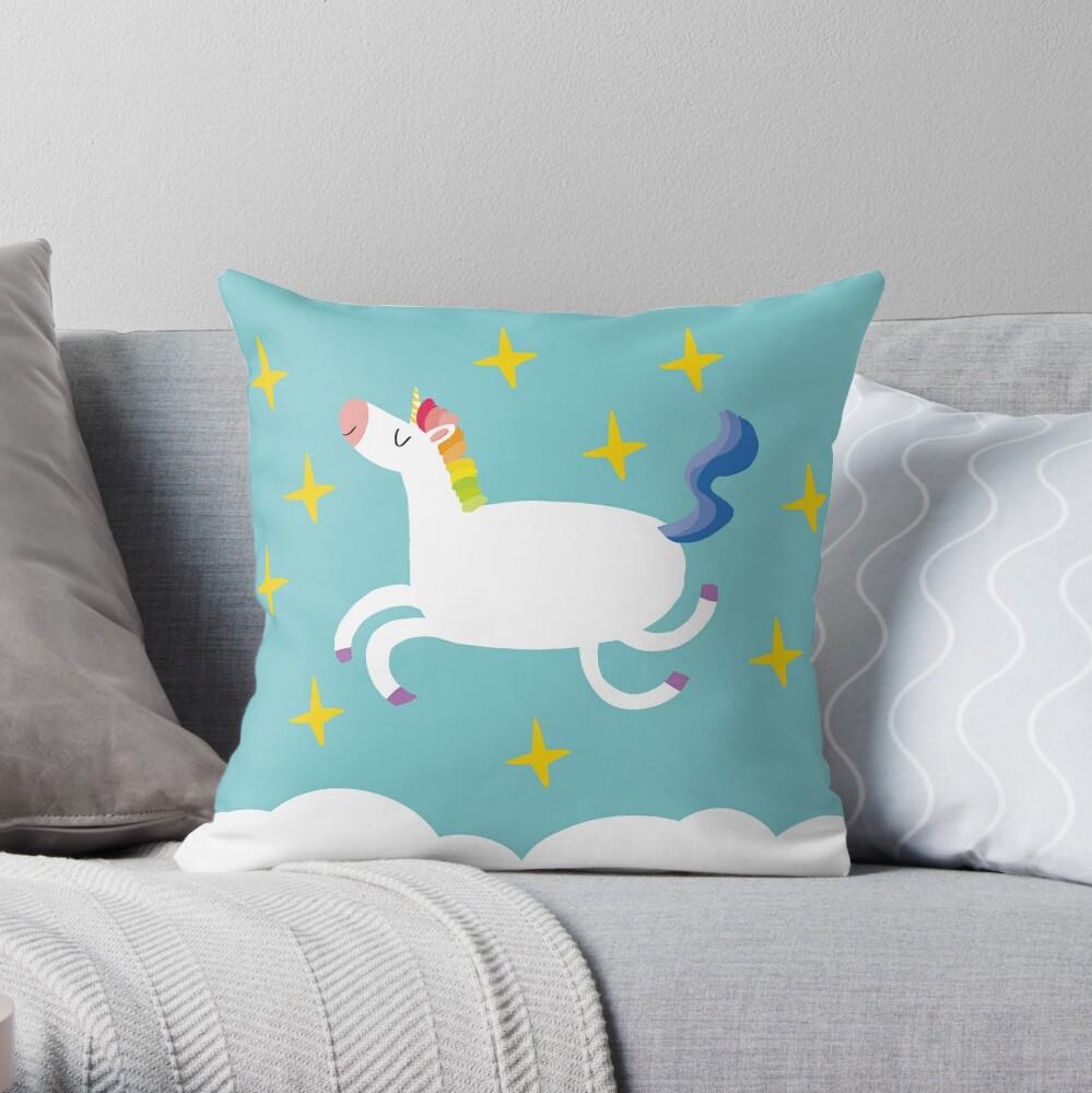 Happy Unicorn Day Throw Pillow