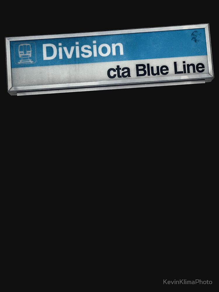 Division CTA Blue Line Station Sign by KevinKlimaPhoto