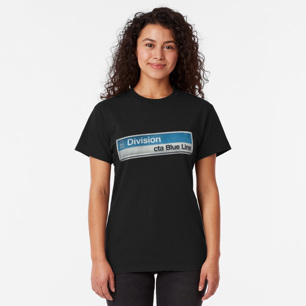 Division CTA Blue Line Station Sign Classic T-Shirt
