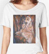 American Cocker Spaniel Fine Art Painting Women's Relaxed Fit T-Shirt