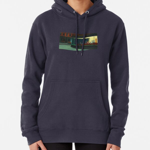Nighthawks by Edward Hopper - 1942 Pullover Hoodie