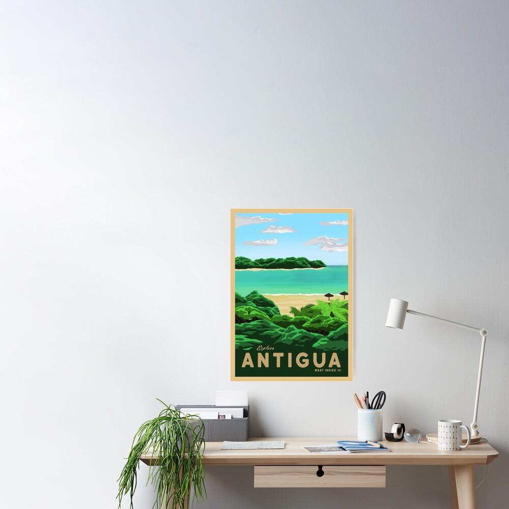 Travel to Antigua Poster