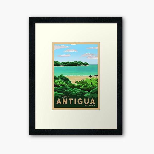 Travel to Antigua Framed Art Print